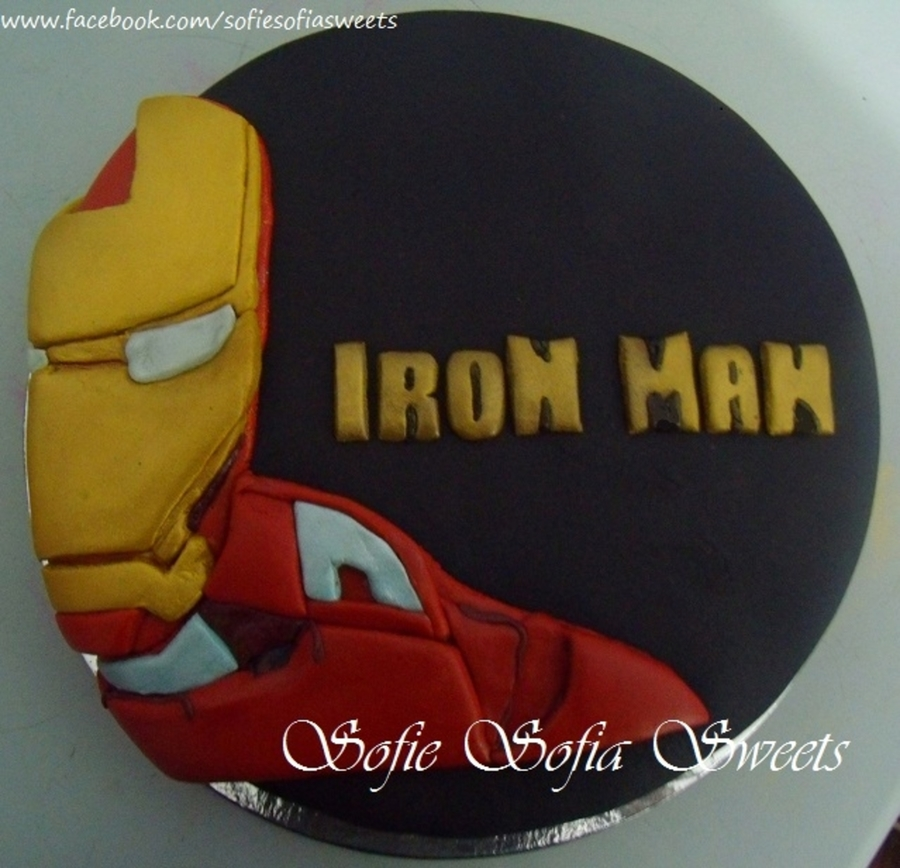 Incredible Iron Man Birthday Cake Cakecentral Com Funny Birthday Cards Online Inifofree Goldxyz