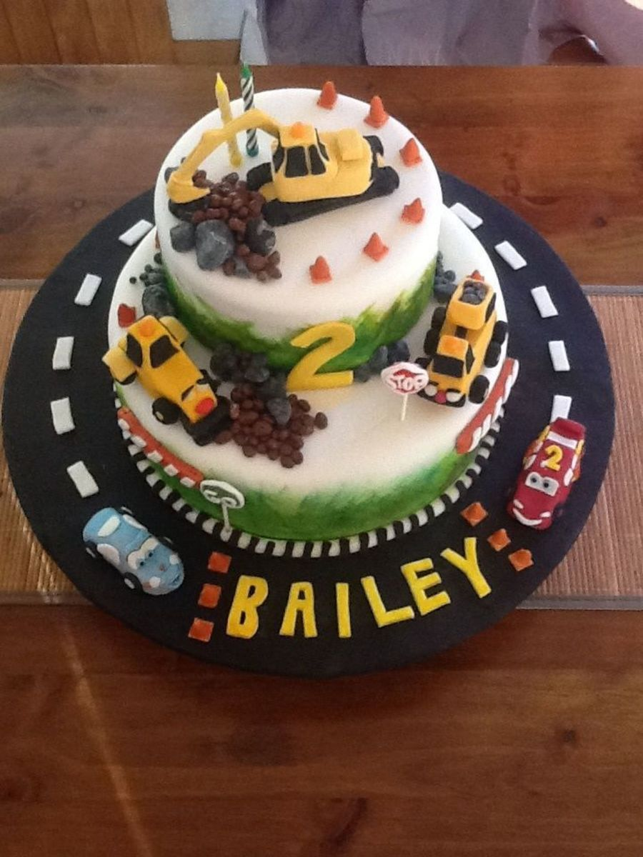 Grandsons 2nd Birthday Cake He Wanted Me To Make A Digger