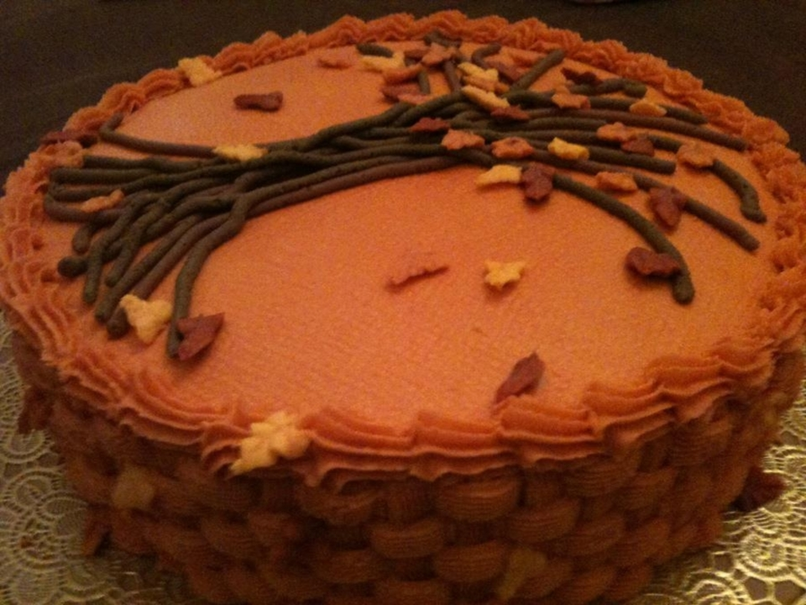 Fall Tree Cake on Cake Central