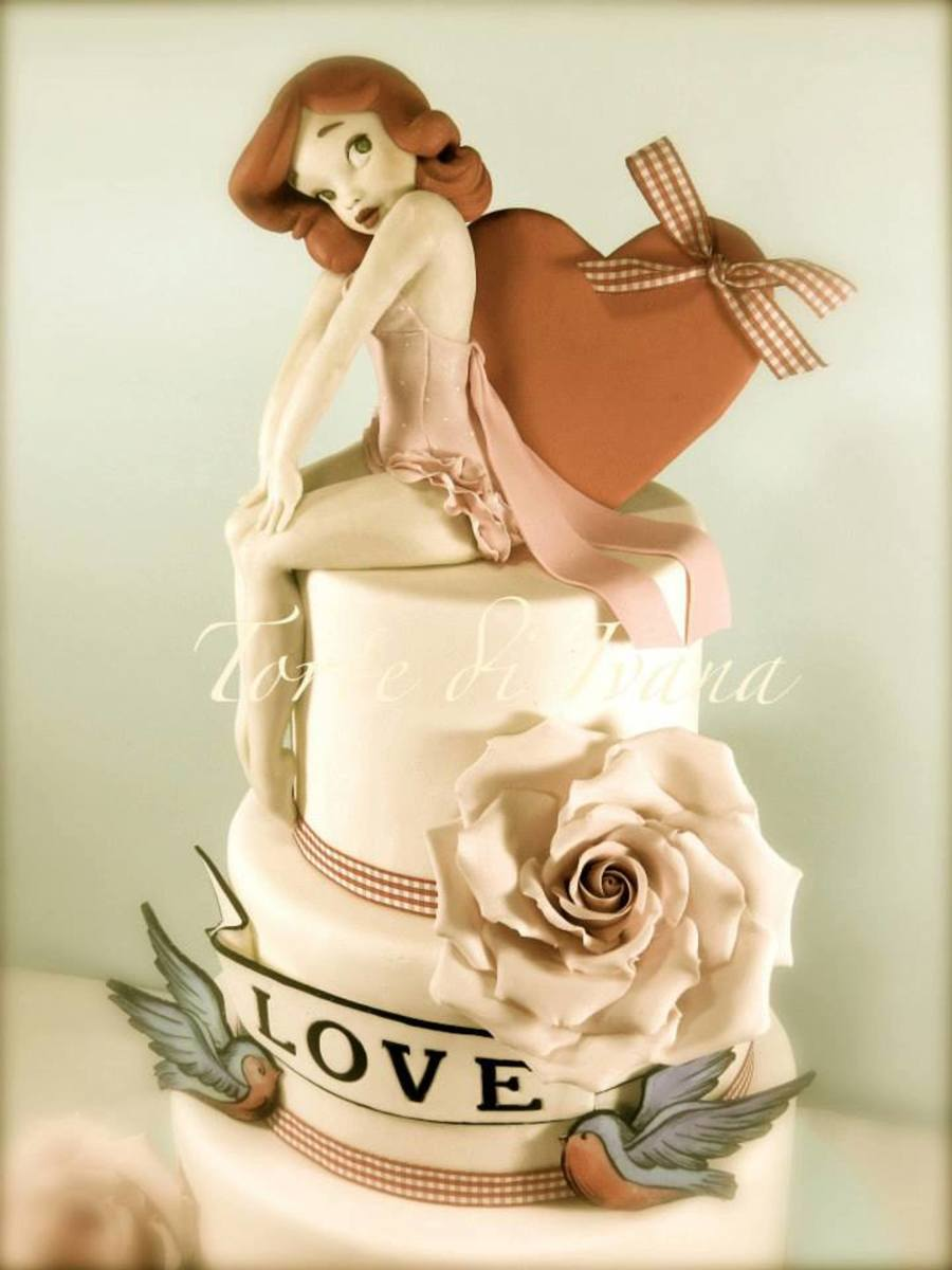 Pin Up Vintage Cake on Cake Central