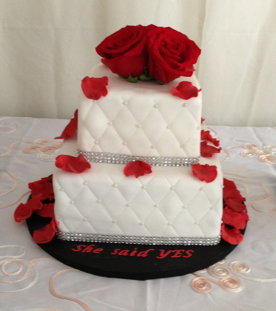 She Said Yes Engagement Cake Cakecentral Com