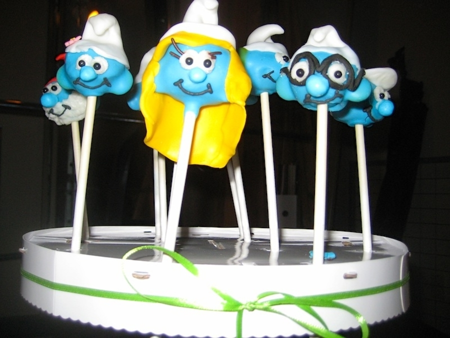 Smurf Pops on Cake Central