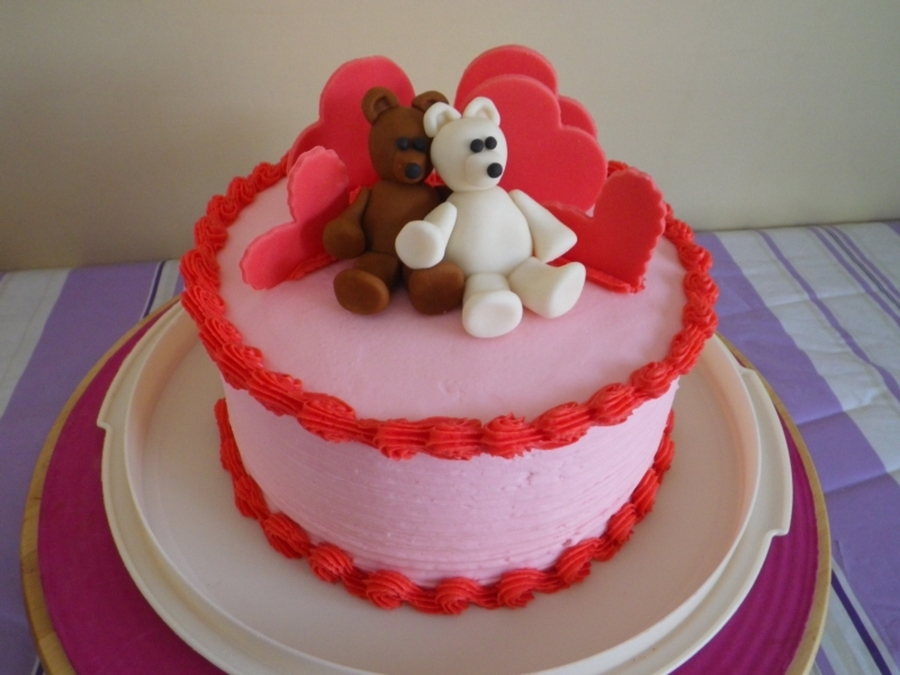 Valentine Bears on Cake Central