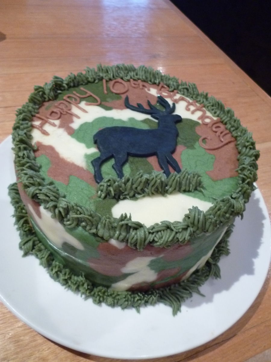 Deer Birthday Cake Cakecentral Com