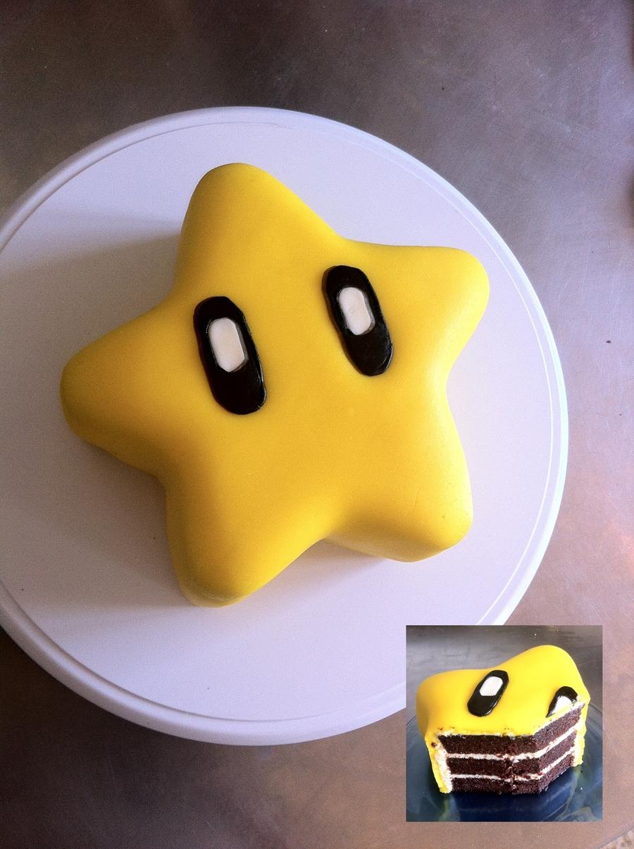 Mario Bros Star Cake