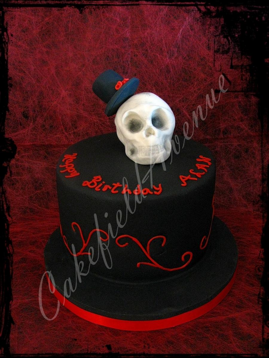 Skull Topper Gothic Birthday Cake Cakecentral