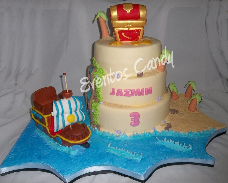 Jake And The Neverland Pirates Treasure Chest on Cake Central