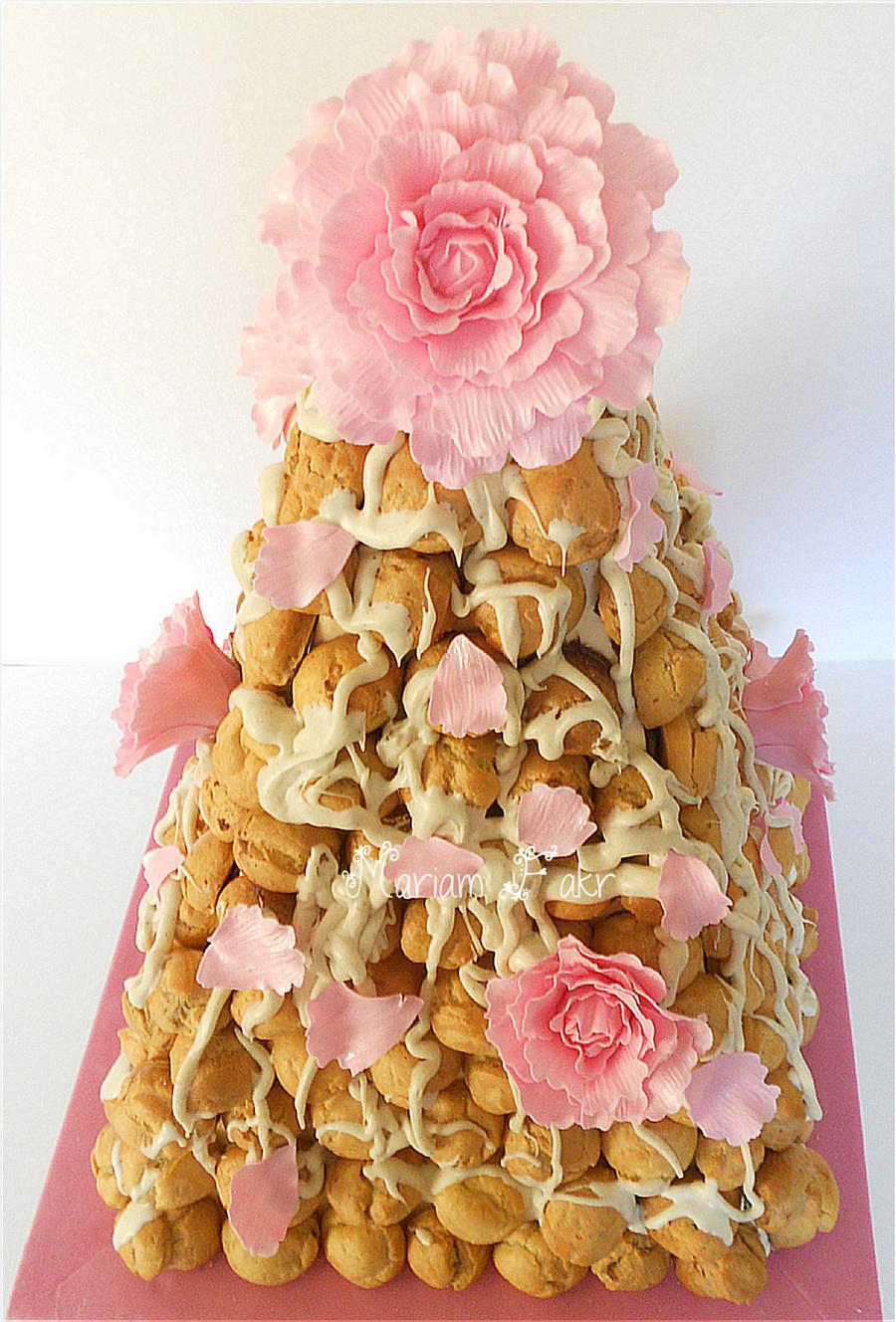 Pi ce mont e wedding cake for Piece montee decoration
