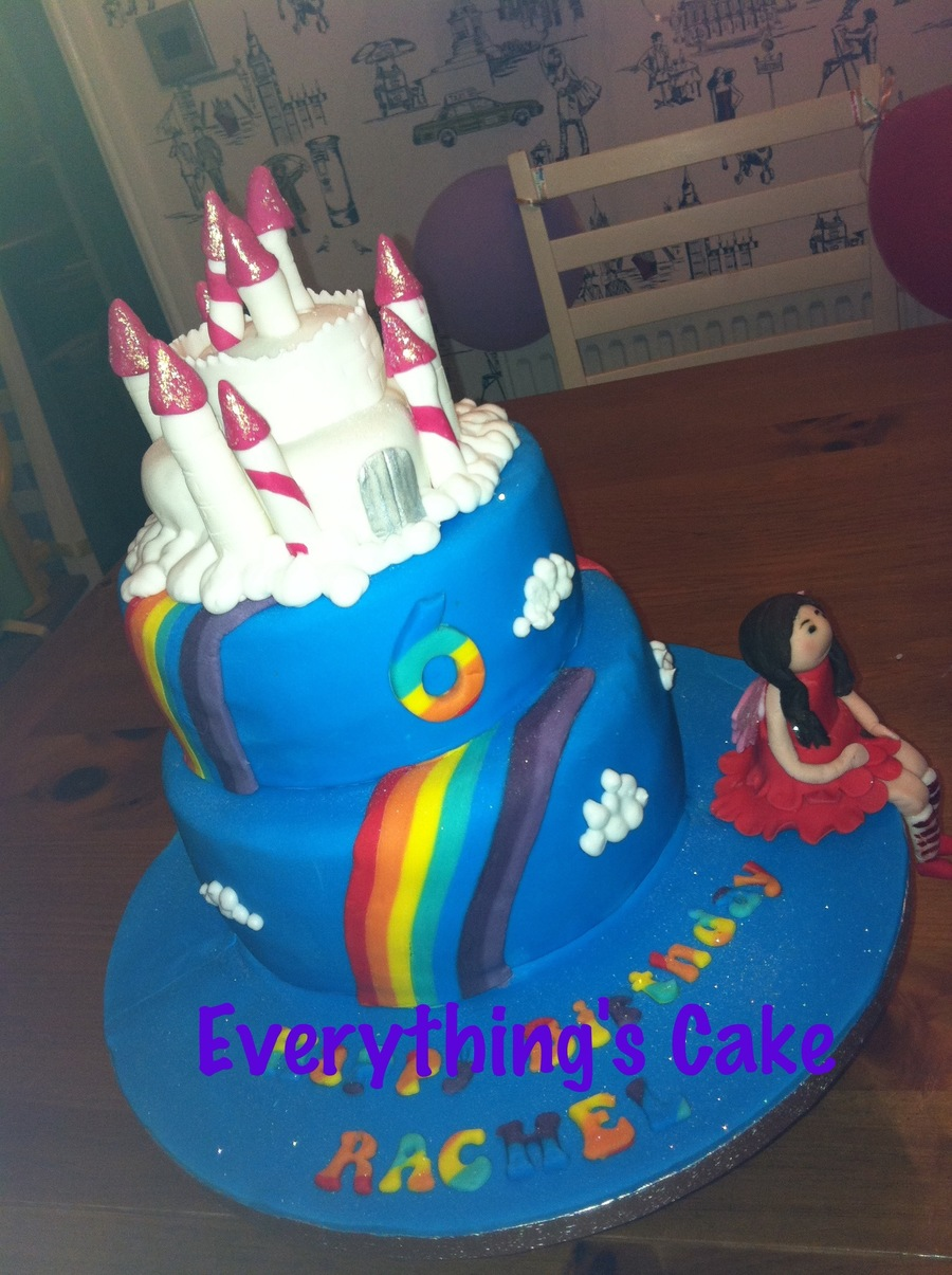 Rainbow Magic Fairy Tiered Cake on Cake Central