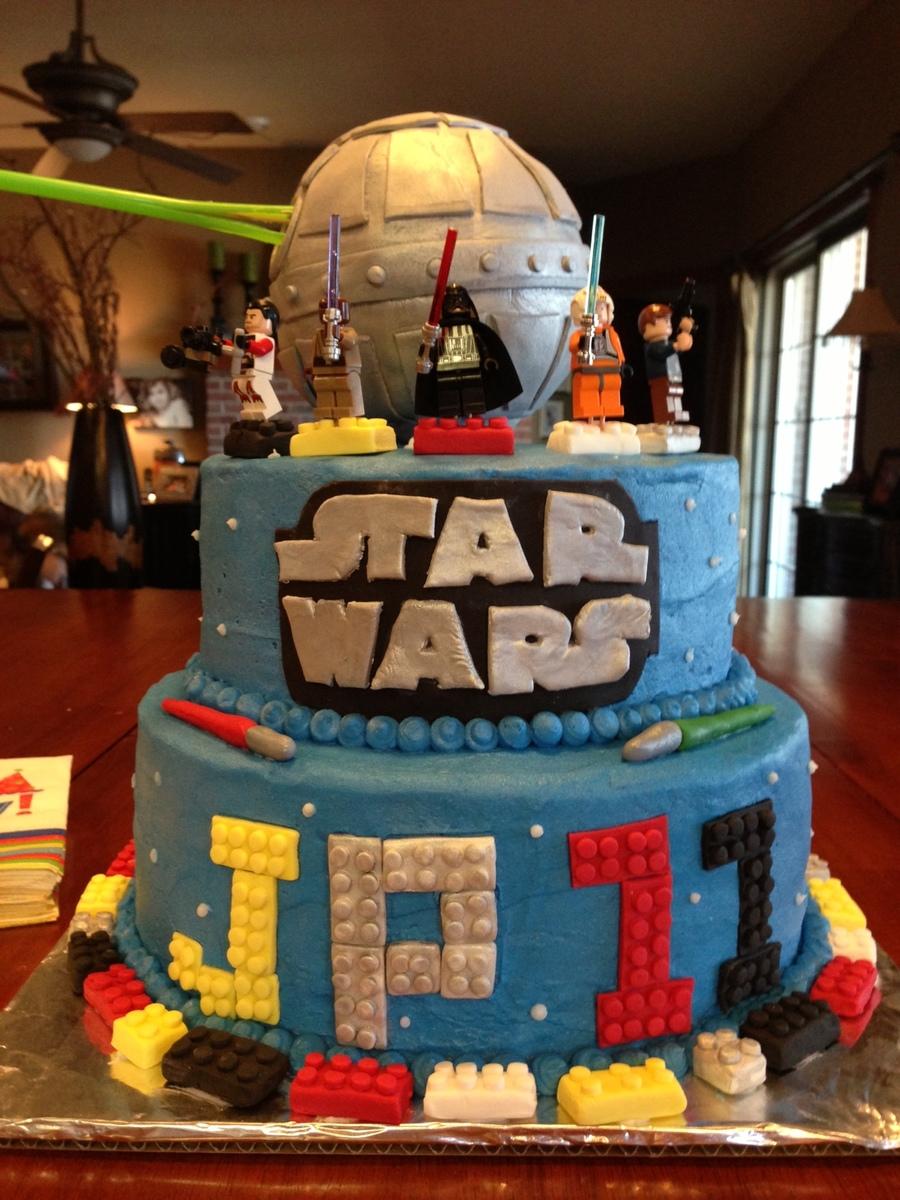 Star Wars Lego Decorations Lego Star Wars Birthday Cakes Cakecentralcom
