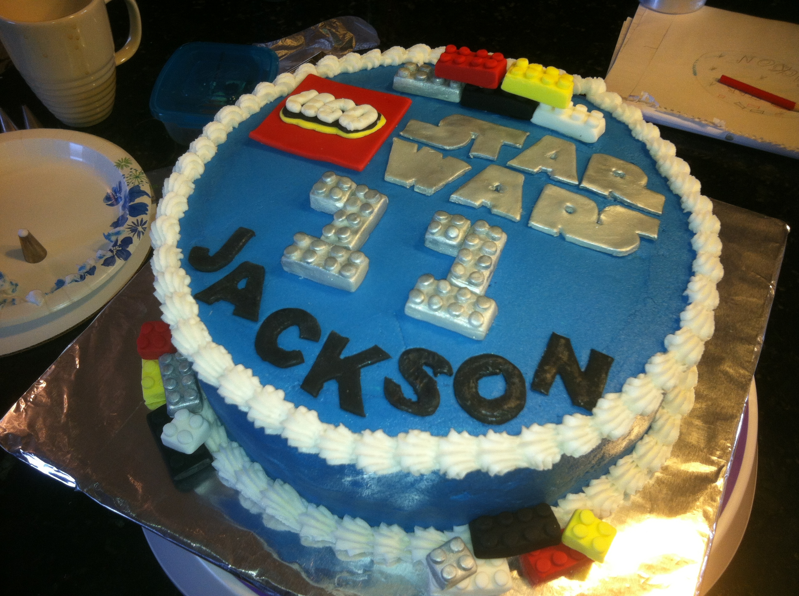 Lego Star Wars Birthday Cakes Cakecentral Com