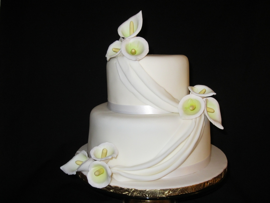 Calla Lilies Cake on Cake Central