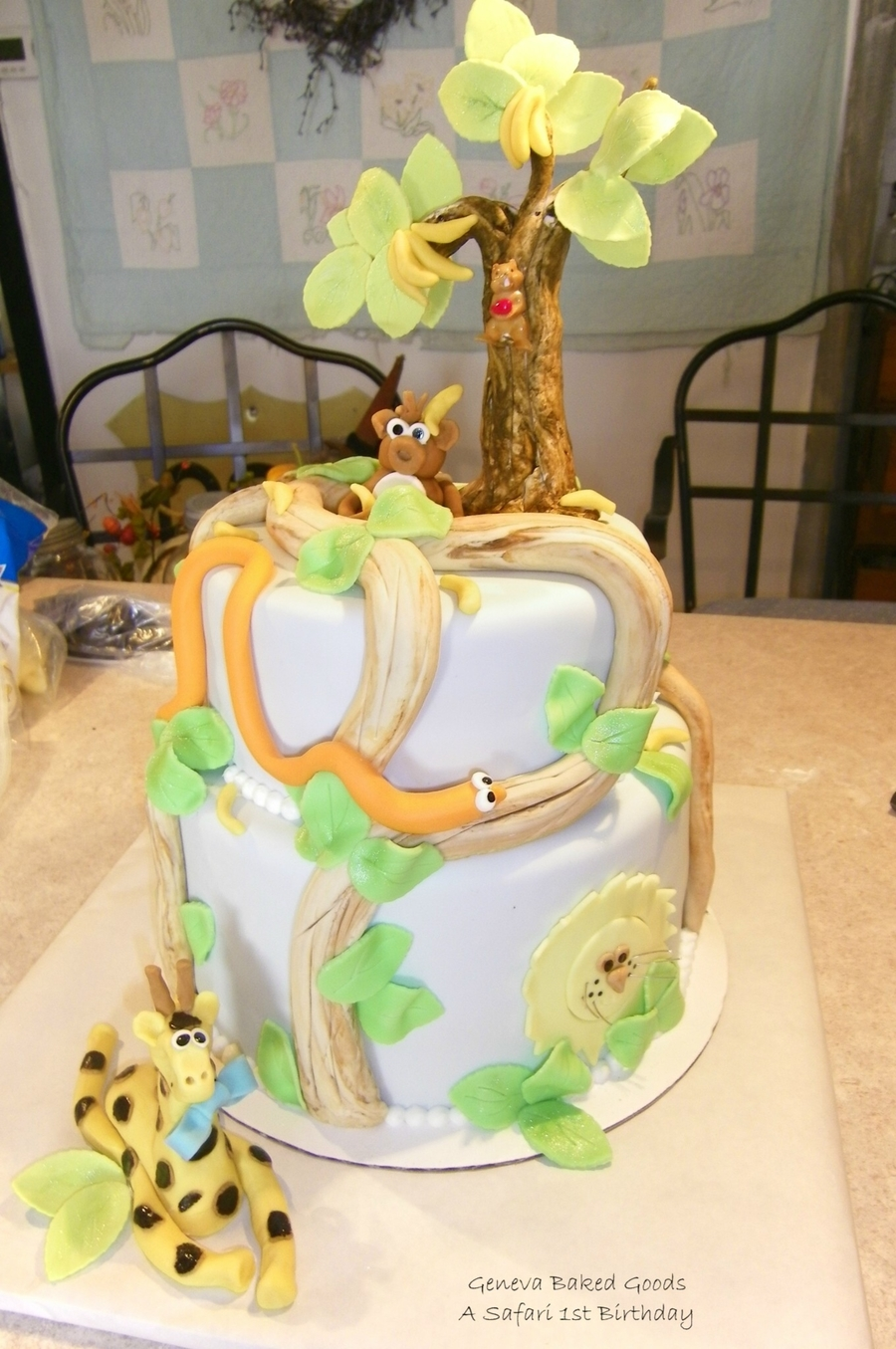 1st Birthday Safari Cake Cakecentral