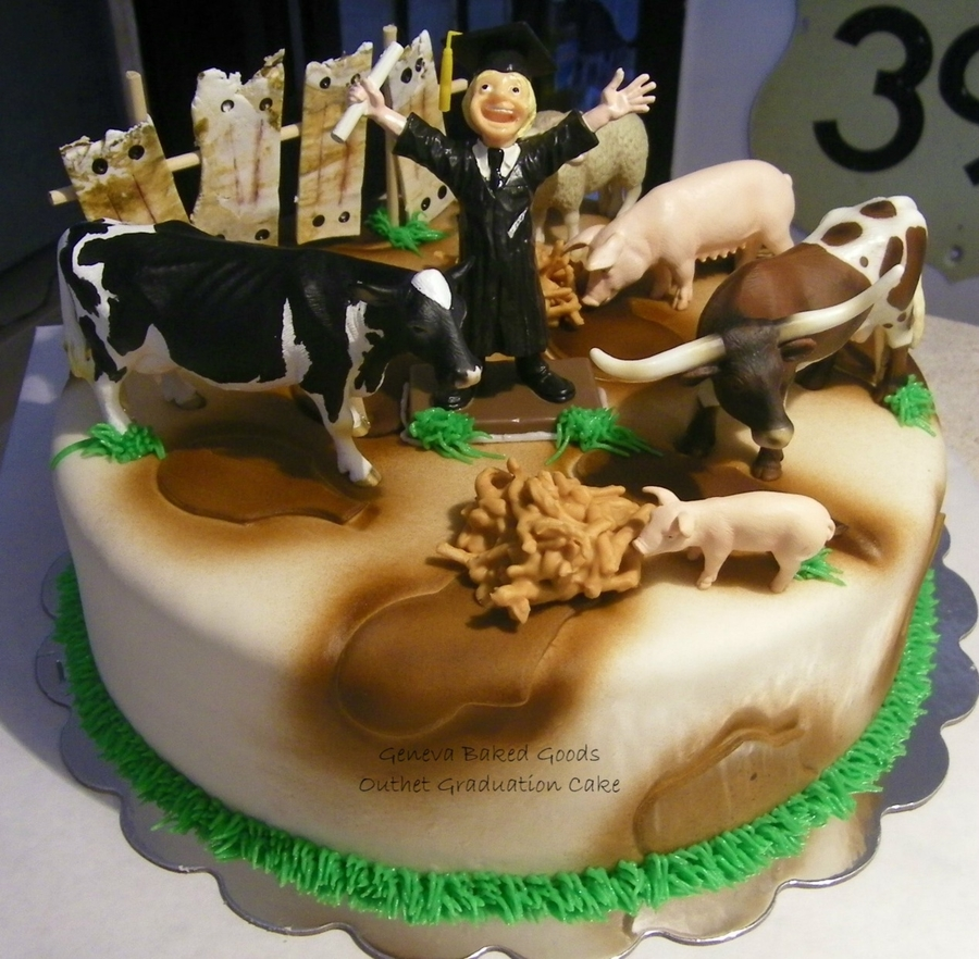 Agriculture Graduation Cake on Cake Central