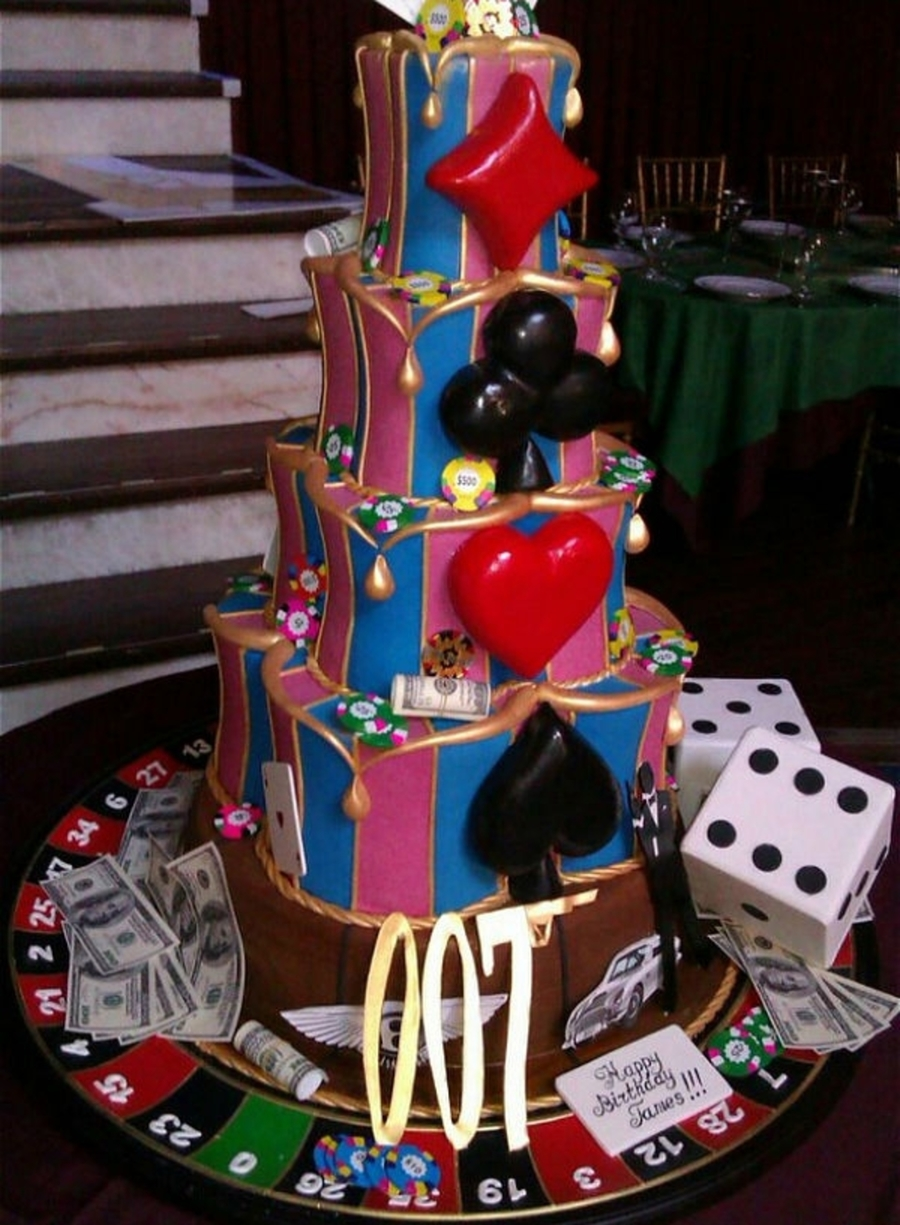 Custom Cakes In Brooklyn - Casino Birthday Cake on Cake Central