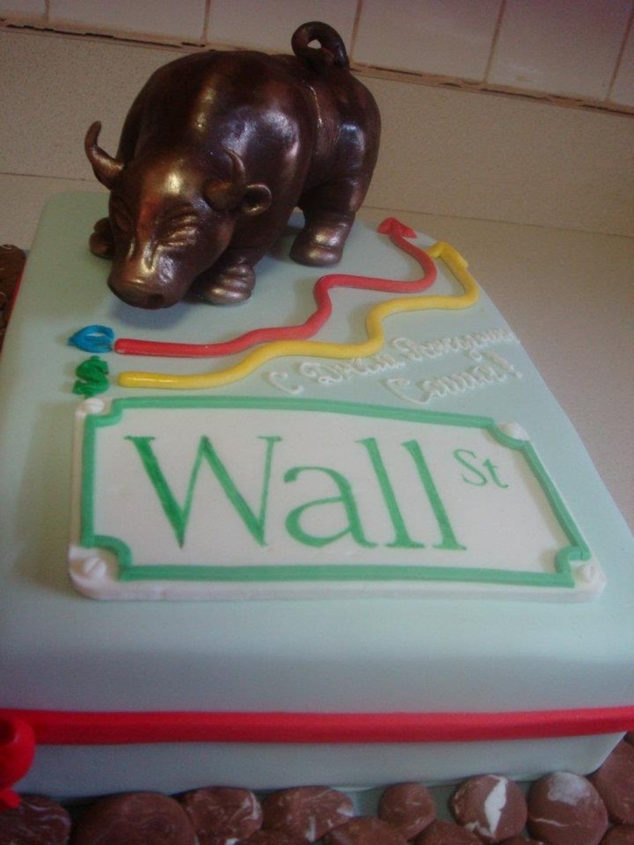 Wall Street Custom Cake  on Cake Central