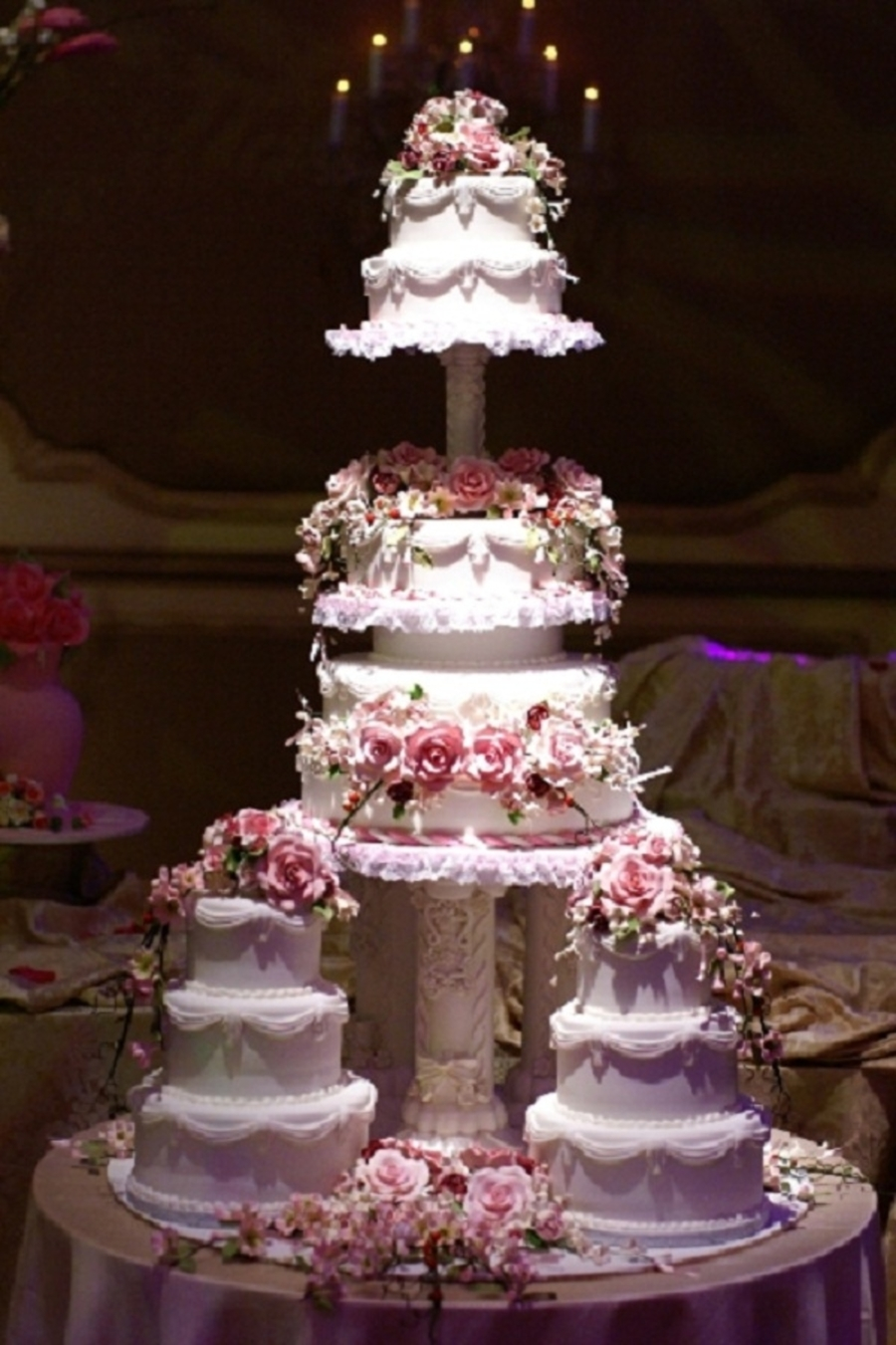 Multiple Tiered Wedding Cake on Cake Central