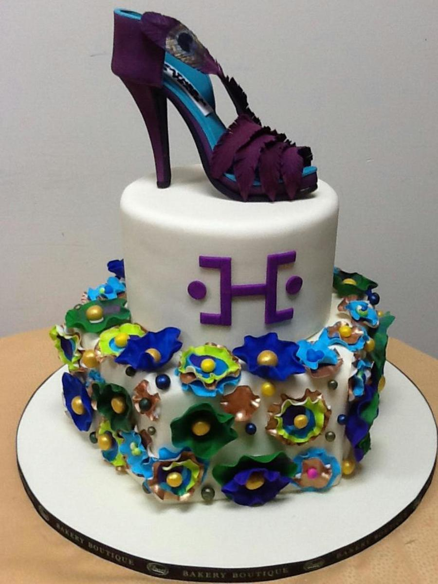 Exquisite Purple Shoe Custom Cake For Her on Cake Central