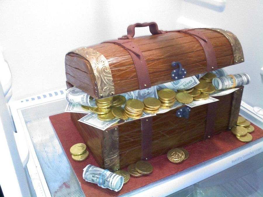 Treasure Chest Custom Cake on Cake Central