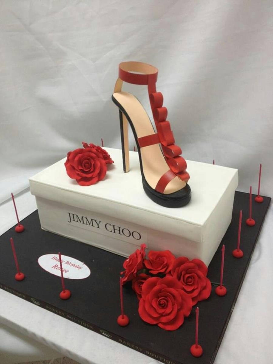 Jimmy Choo Shoe Custom Cake on Cake Central