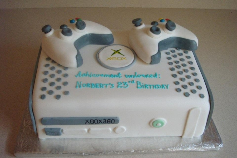 Xbox 360 Custom Cake For Him on Cake Central