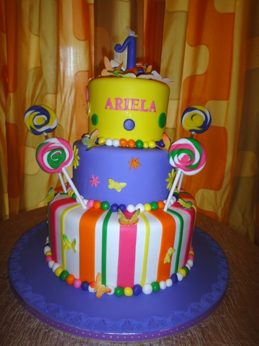 Swell Custom Cakes In Brooklyn Colorful Birthday Cake Cakecentral Com Personalised Birthday Cards Veneteletsinfo