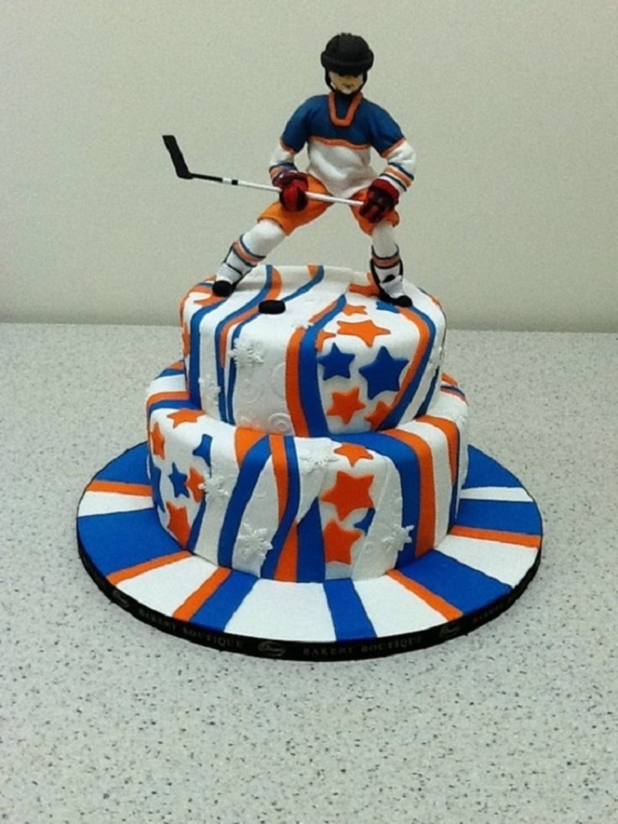 Hockey Cake Decoating