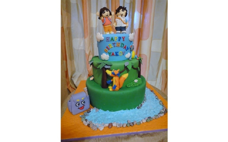 Dora The Explorer Custom Birthday Cake on Cake Central