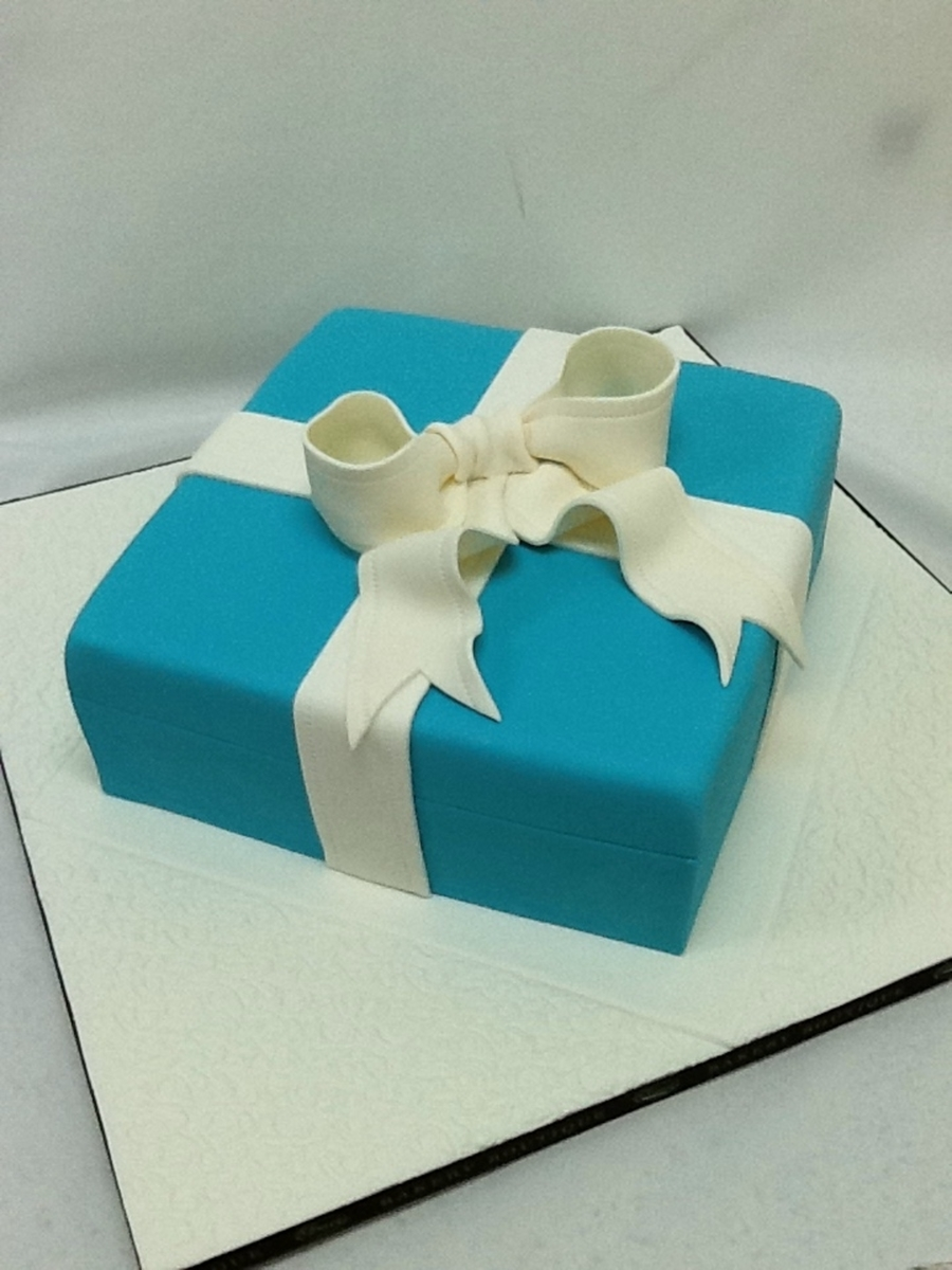 Tiffany Box Cake For Her on Cake Central