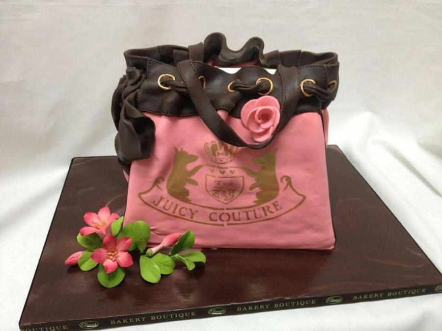 Juicy Couture Custom Pink Bag Cake For Her on Cake Central