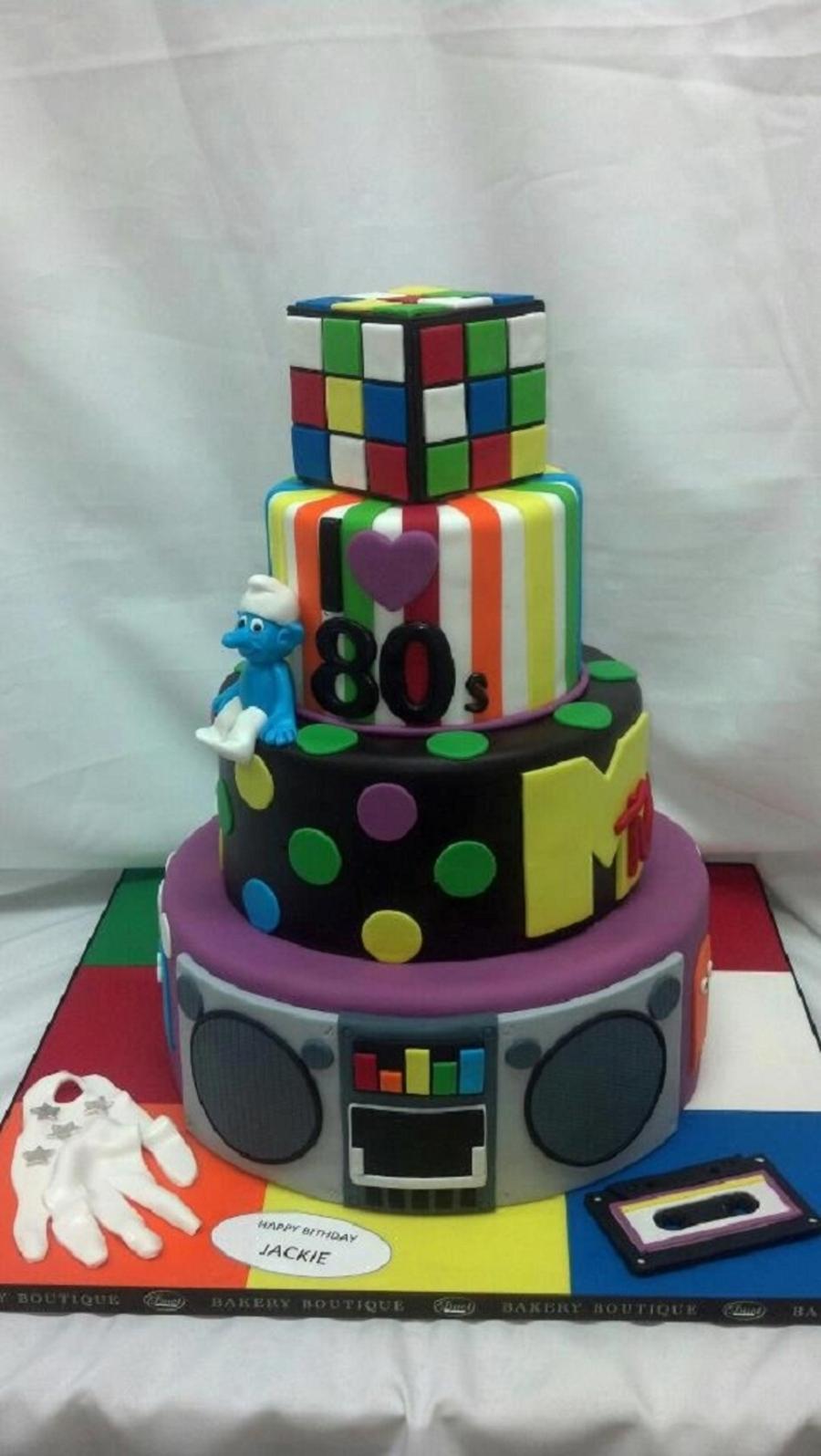 Prime 80S Custom Birthday Cake Cakecentral Com Funny Birthday Cards Online Unhofree Goldxyz