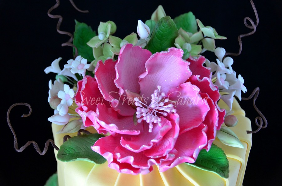Peony Sugar Flower on Cake Central