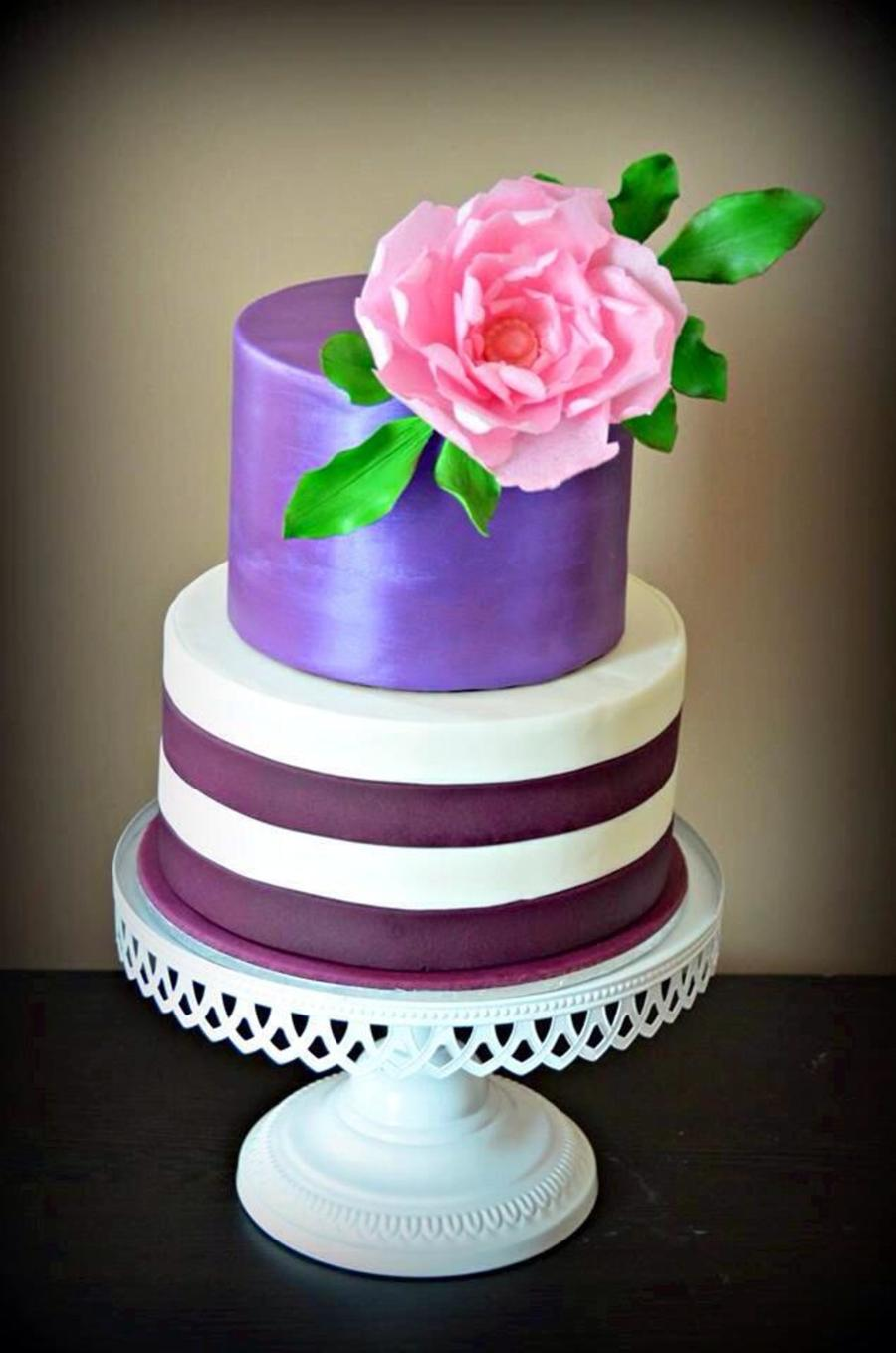 Purple Licious Birthday Cake Cakecentral