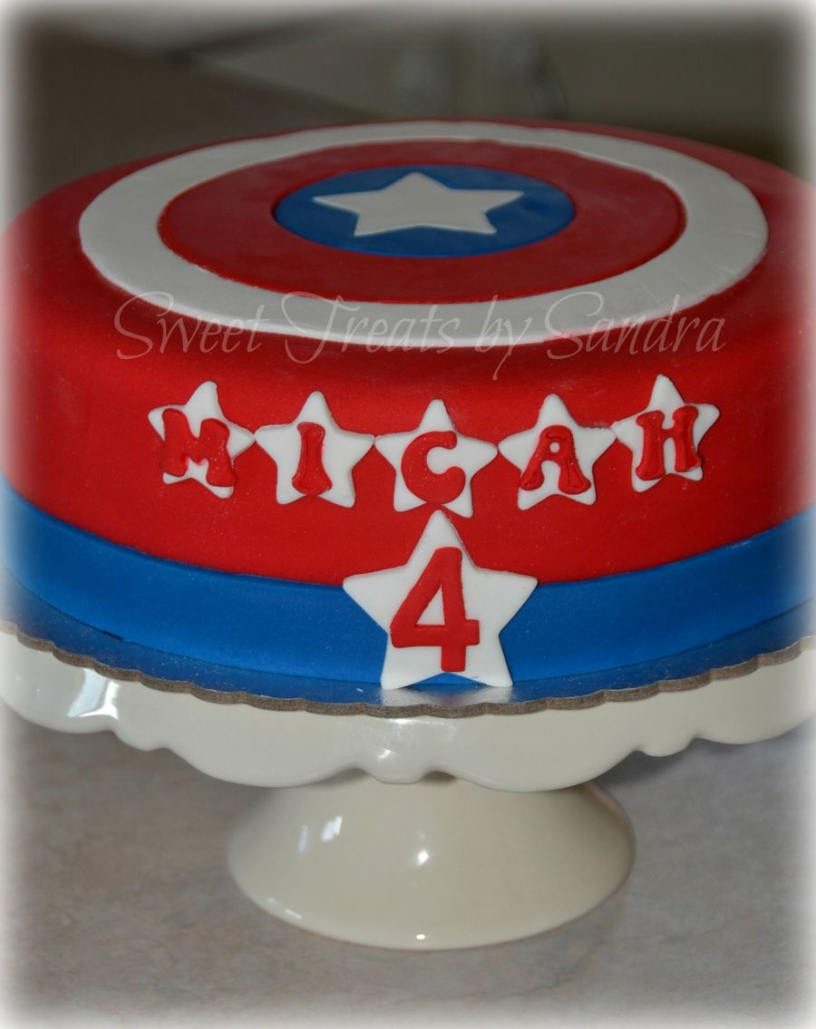 Captain America Cake on Cake Central