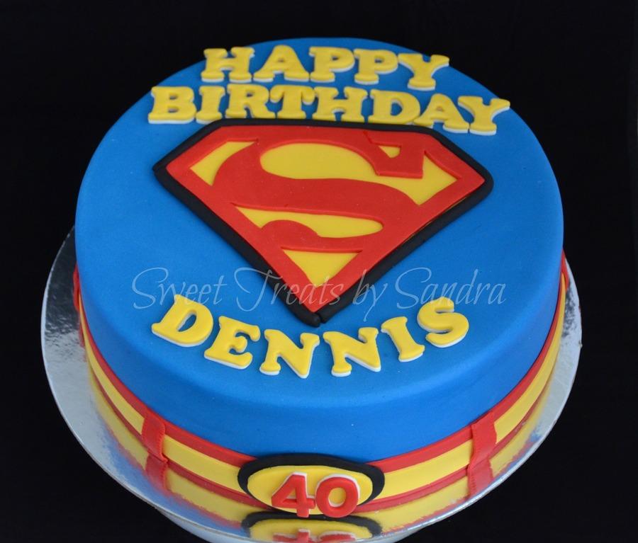 Superman Theme Cake Cakecentral Com