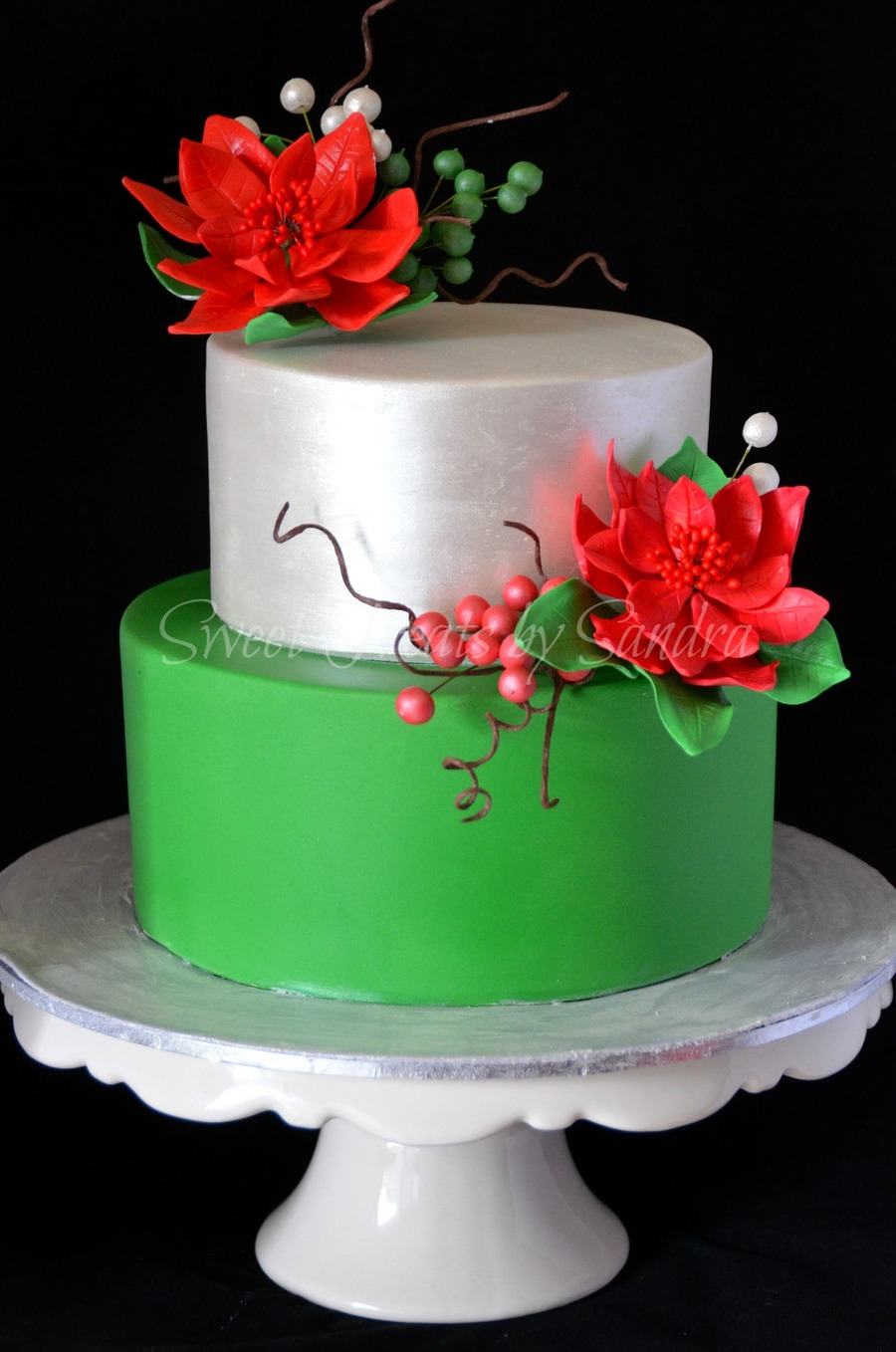 Christmas Birthday Cake.An Elegant Christmas Birthday Cake Cakecentral Com