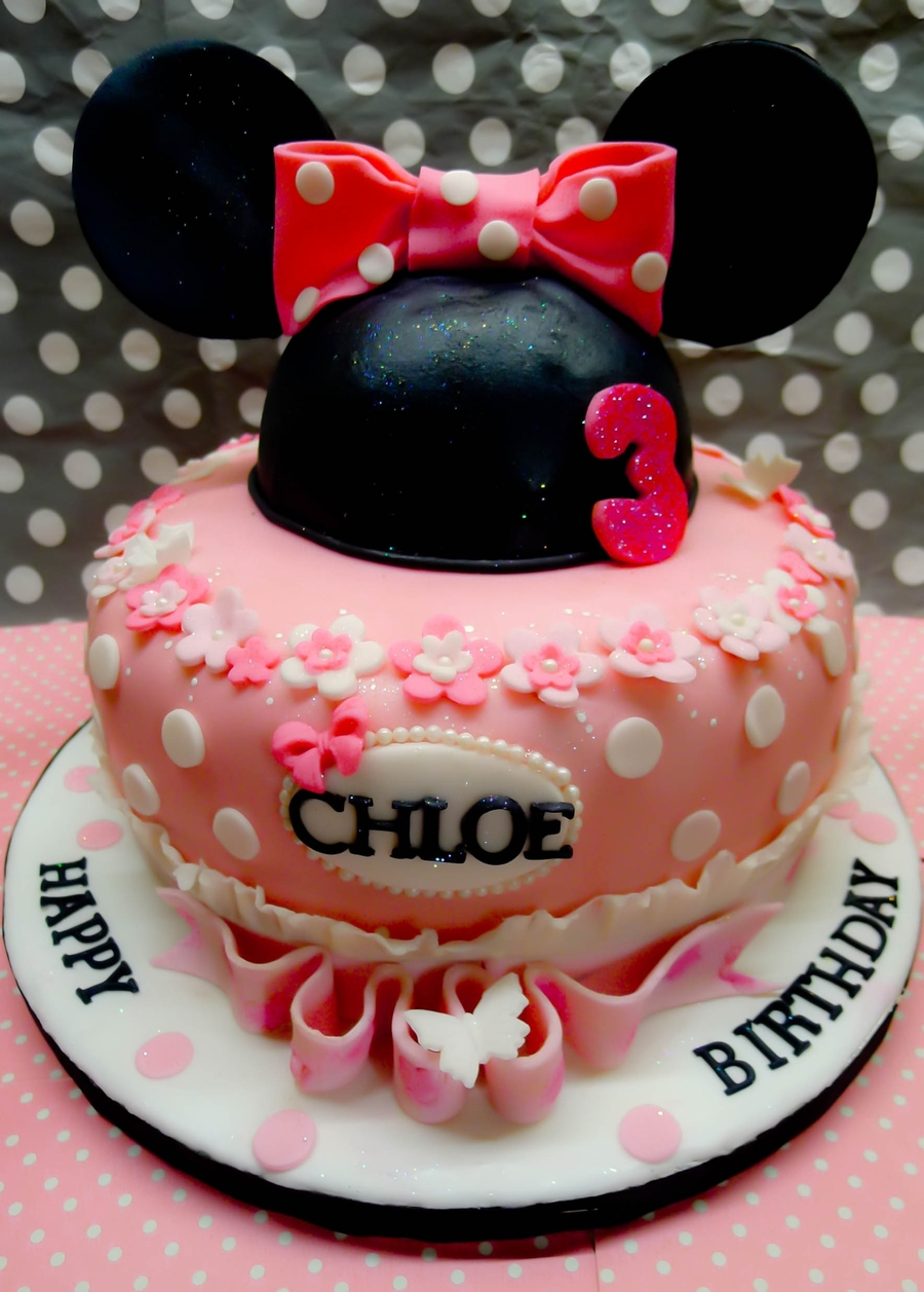 Minnnie Mouse Birthday Cake on Cake Central