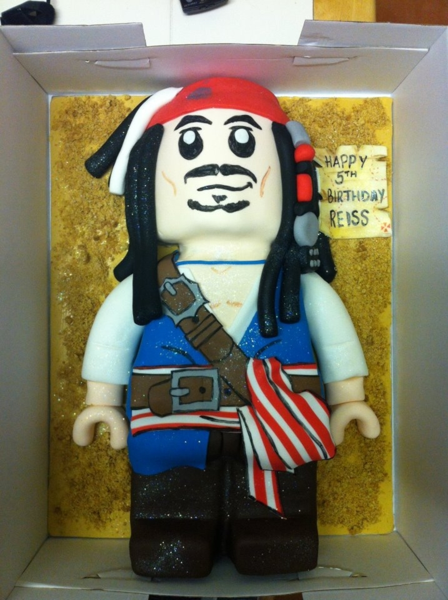 Lego Captain Jack Sparrow on Cake Central