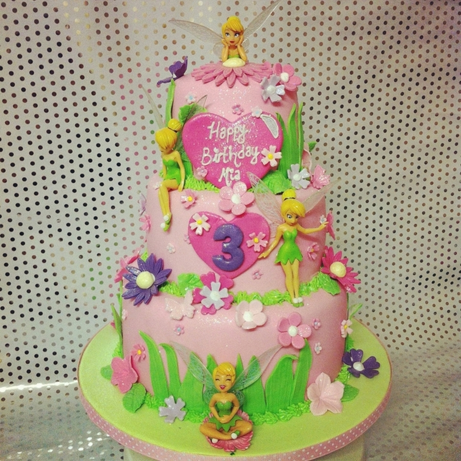 Tinkerbell Themed Cakie on Cake Central