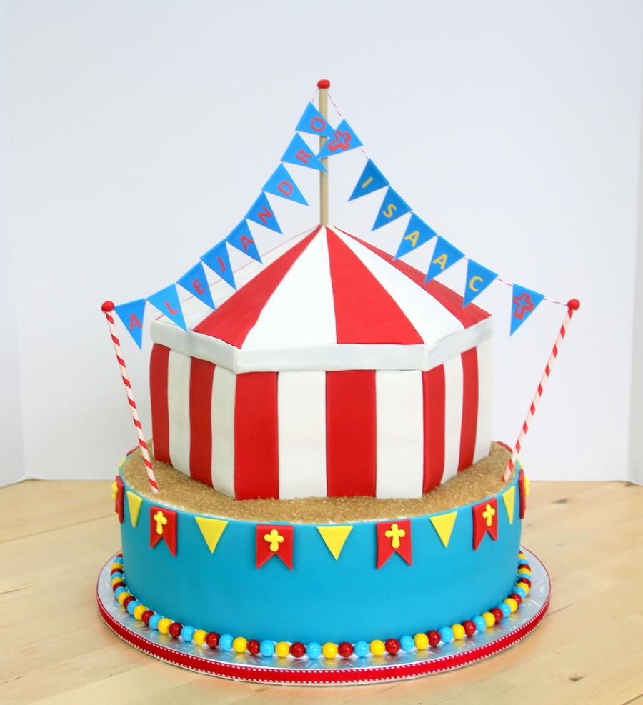 Circuscarnival Birthdaybaptism Cake Cakecentral