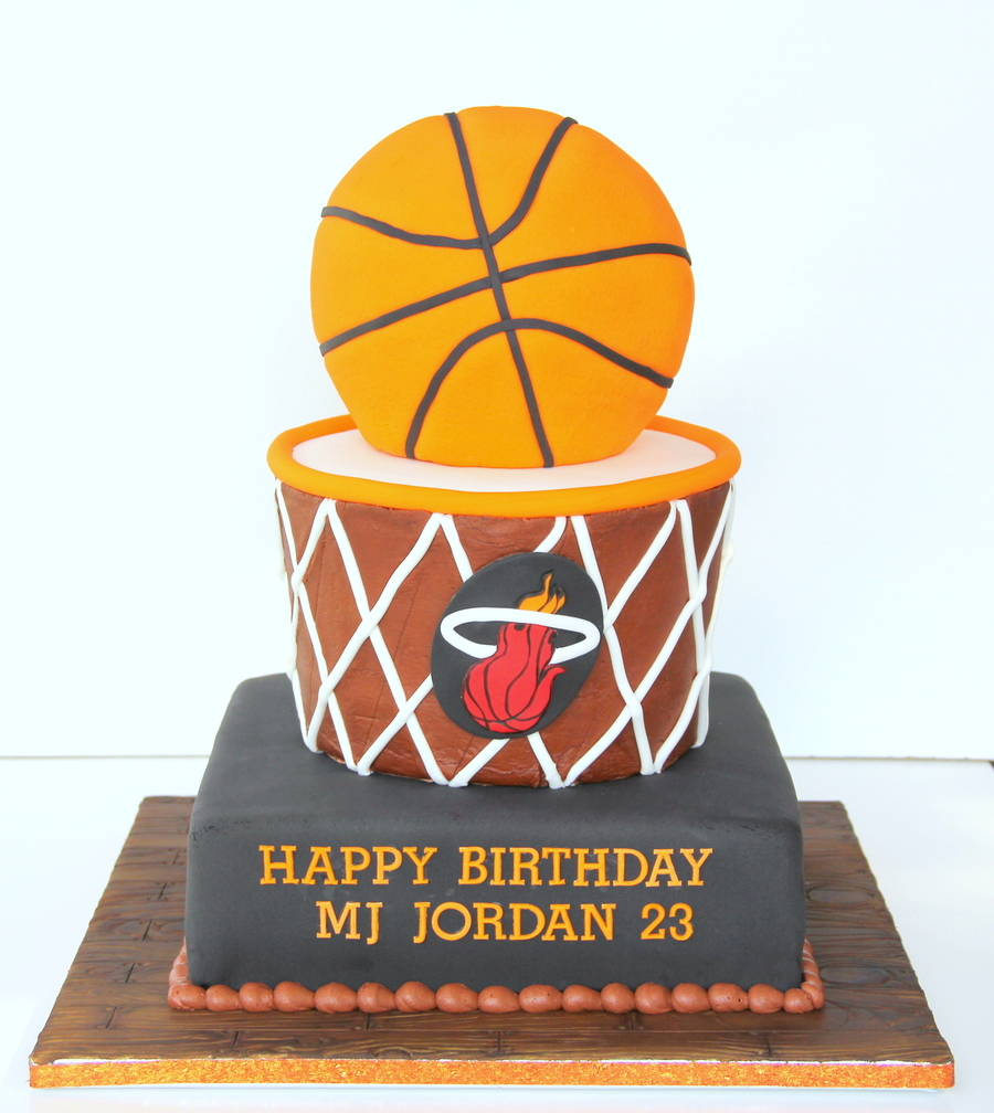Icing Smiles Basketball Cake - Miami Heat on Cake Central
