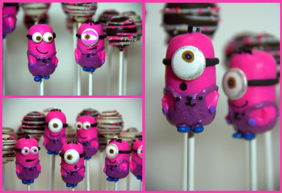 Pink Minion Cake Pops