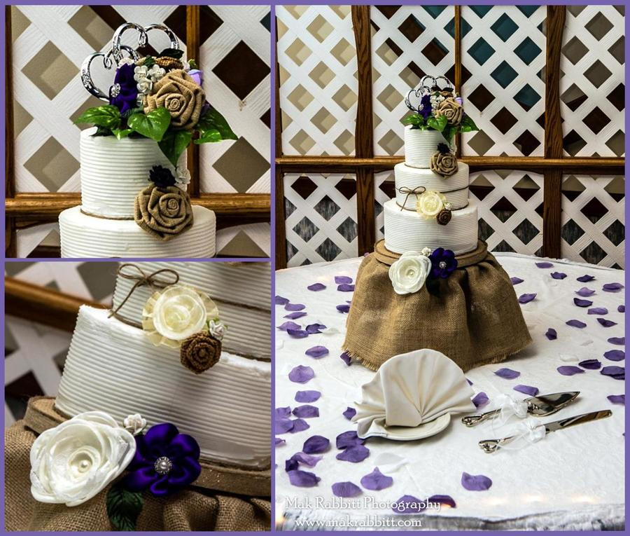Shabby Chic Wedding Cake on Cake Central