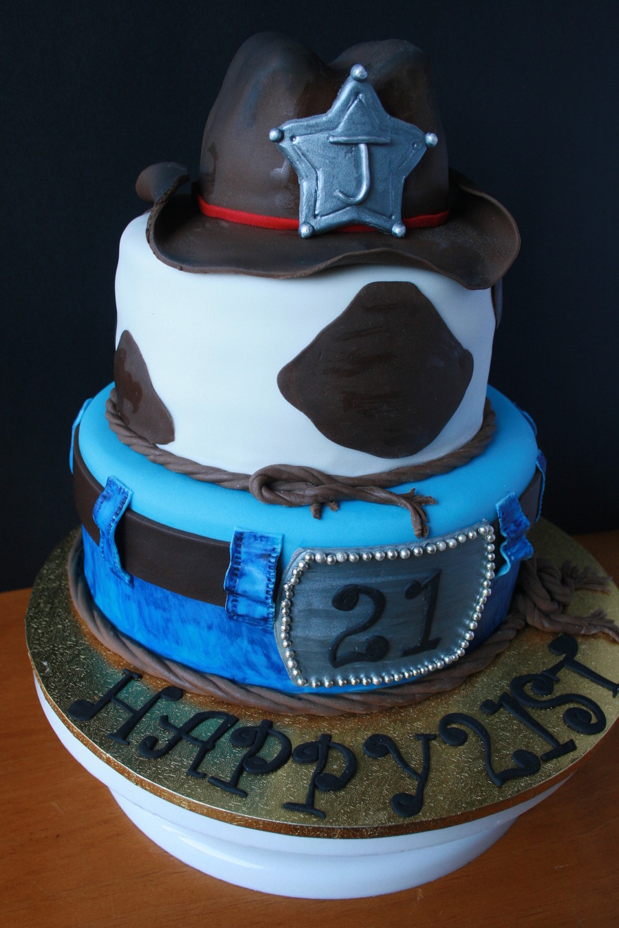 21St Birthday Western Cake on Cake Central
