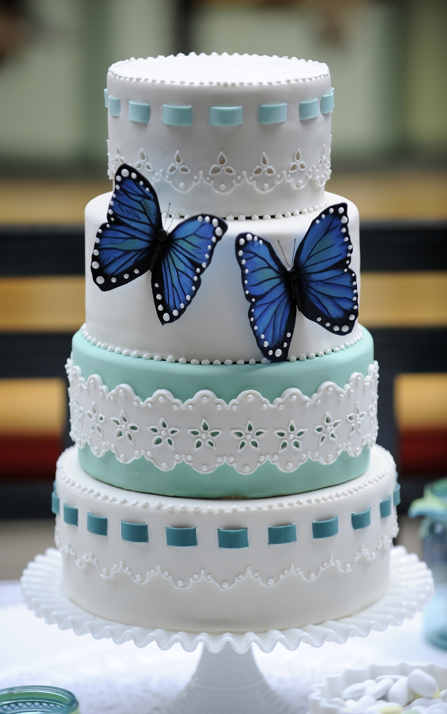 Blue Monarchs on Cake Central