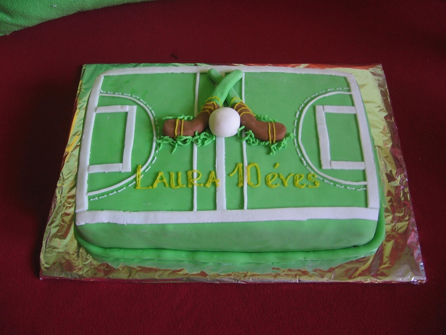 Lawn Hockey Cake on Cake Central