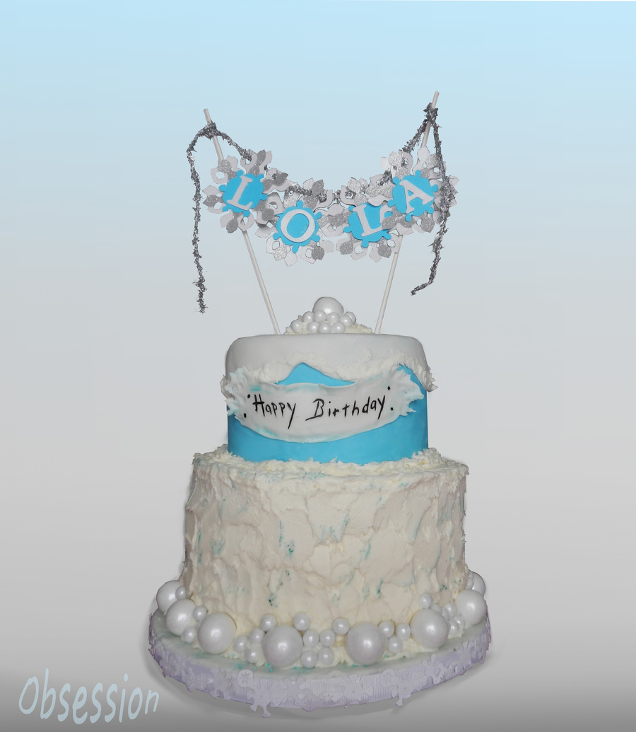 A Frozen Themed Birthday Cake Cakecentral