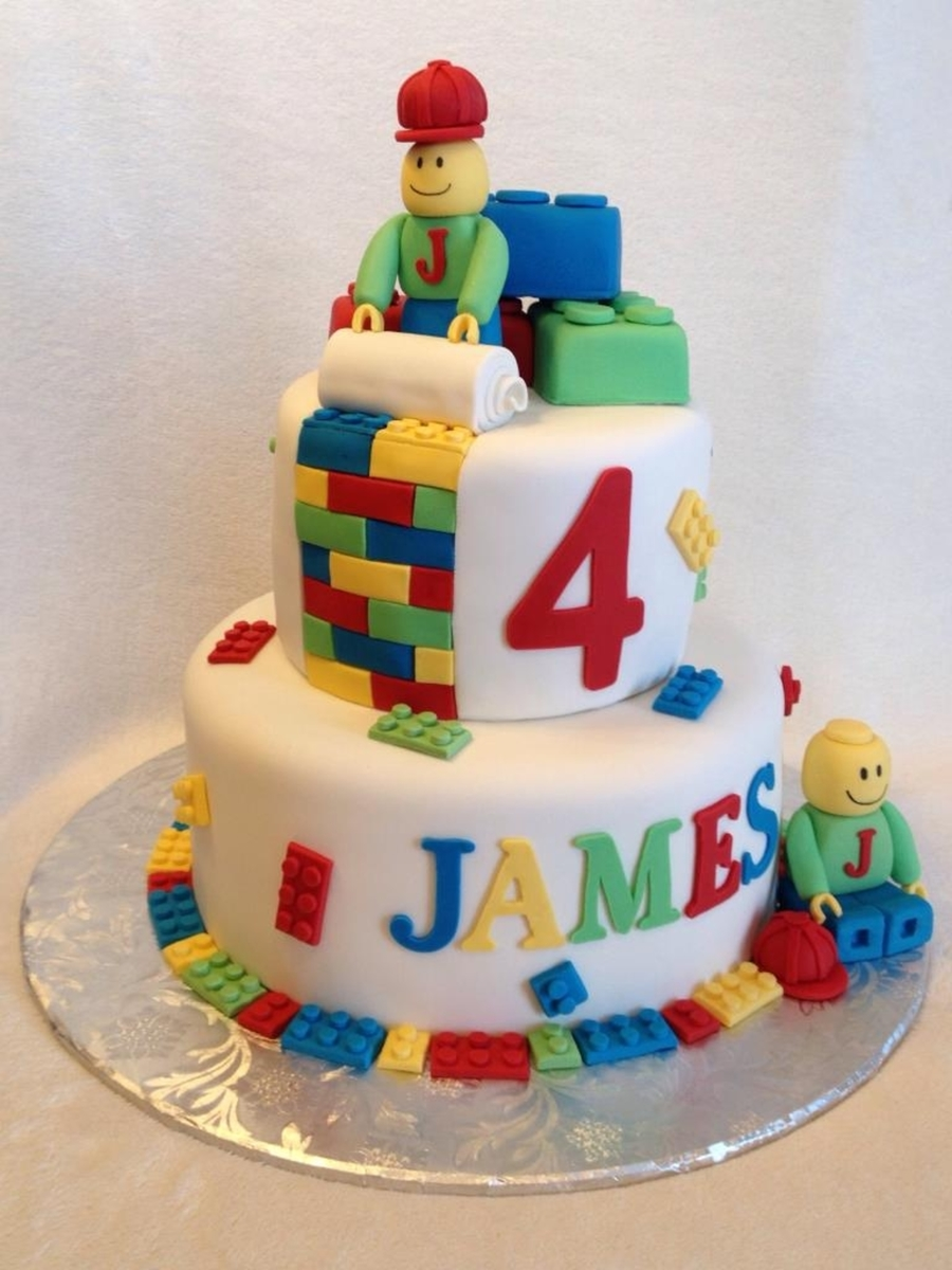 How To Decorate A Lego Man Cake