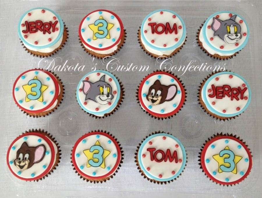 Tom And Jerry Themed Cupcakes on Cake Central