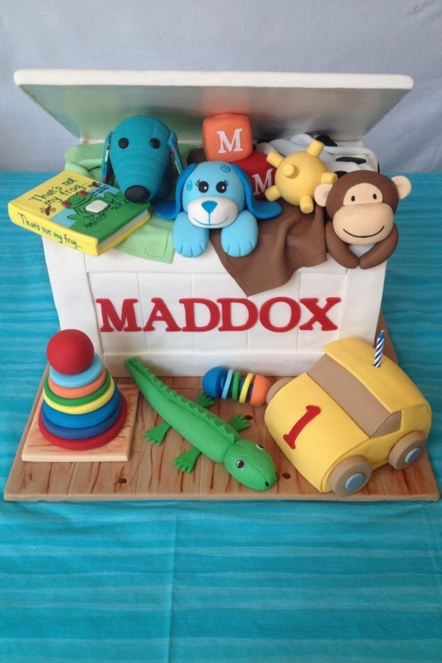 Astonishing Toy Box Birthday Cake Cakecentral Com Personalised Birthday Cards Veneteletsinfo